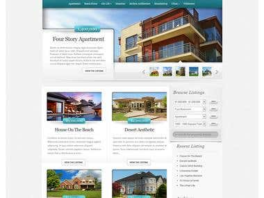 A website done for a realestate agency