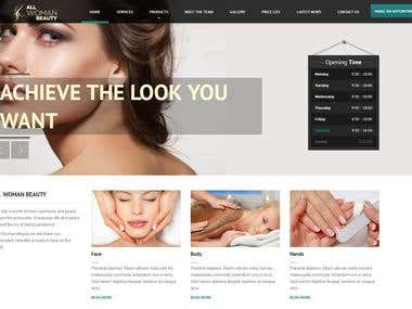 Beauty salon website