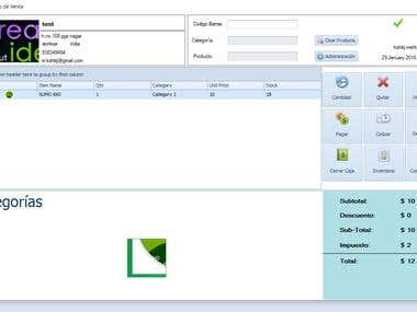 POS windows application