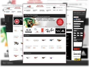 Magento ecommerce: Magento Eye wear Store