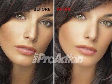 Examples of touched up photo before and after