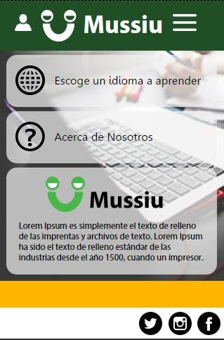 Pantalla aplicación web