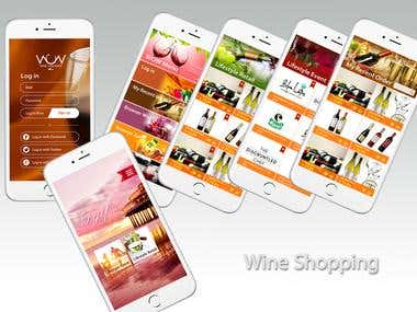 Wine Shopping app