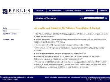 Perlus Website Design