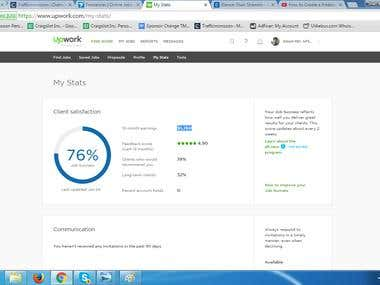 Portfolio project of My Upwork Stats ....