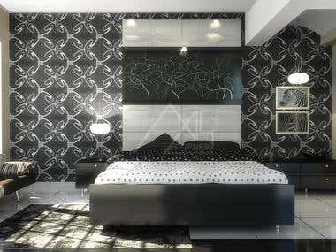 3D Bed Room Rendering