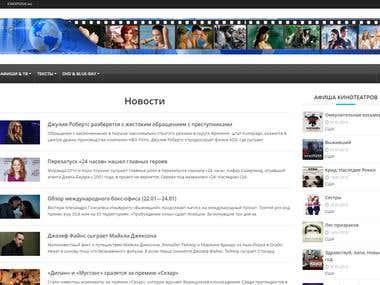 Movie & News WebSite