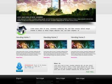 PSD Design and  HTML/XHTML Coding