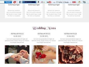 this is my designed wedding web  templete.