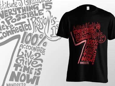 T shirt  design for 7 mindsets (Contest Entry)