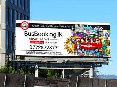 Promotion Art work for www.Busbooking.lk