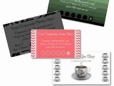 Promotional Discount Punch Cards