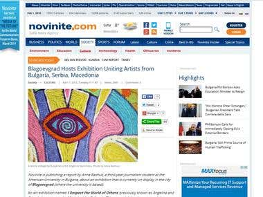 """Blagoevgrad Hosts Exhibition Uniting Artists..."""