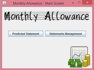 Monthly Allowance Program - Java