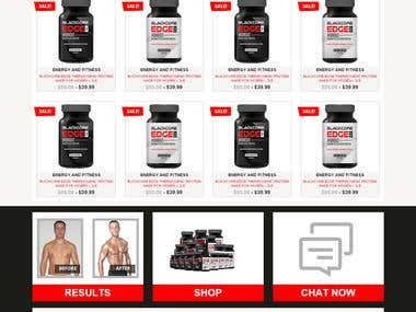 Fitness and Health Responsive Website
