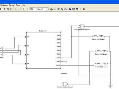 3 phase half bridge Inverter In matlab Simulink