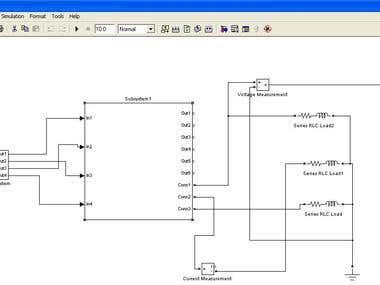 3 phase half bridge Inverter In matlab Simulink