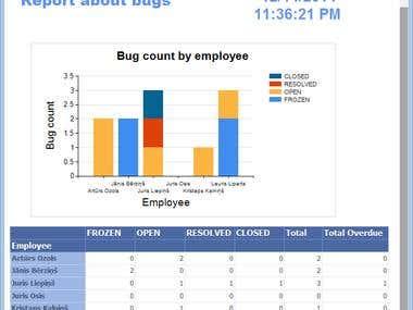 Bug reporting application