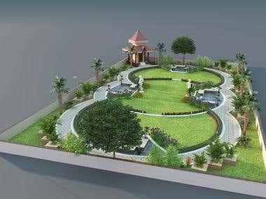 "3D Garden ""Modeling & Rendering"""