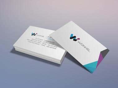 Custom business card for Wonkel