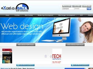 Excel-o-data web solutions website.