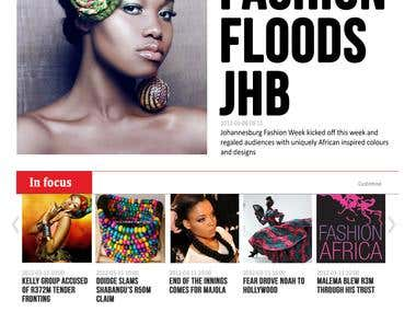 City Press website concept design