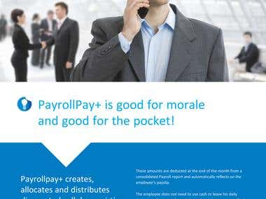 Payrollpay brochure design
