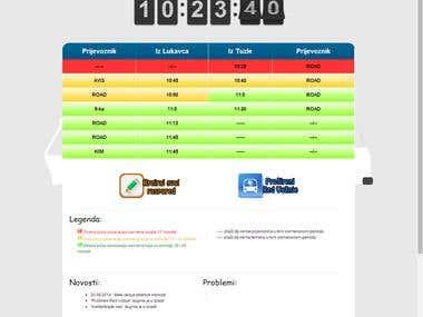 Bus Schedule - Web Site/Application