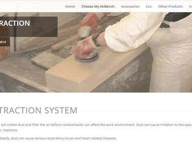 Webpage Content for AirBench (Dust Extraction System Page)