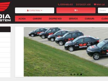 Online store for a security systems company