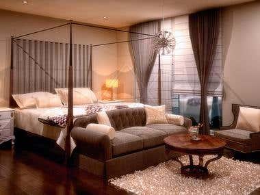3D Bed Render Portfolio