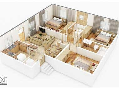 3D Floor Plan Render Service