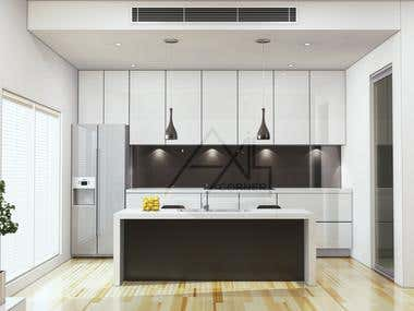 3D Kitchen Rendering Portfolio.