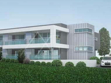 3D Residence Exterior Render