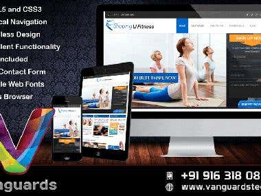 Responsive wordpress website example