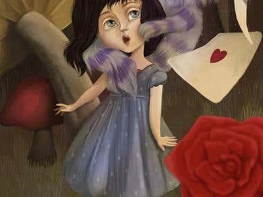 Alice in Wonderland- Children's book illustration