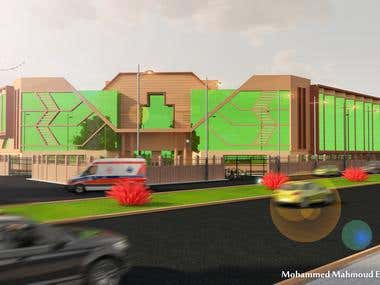 Hospital project at the new city of damietta