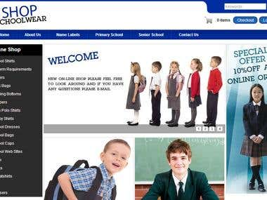 School Dress Ecommerce
