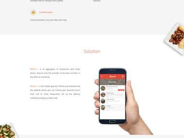 Bunch Landing Page