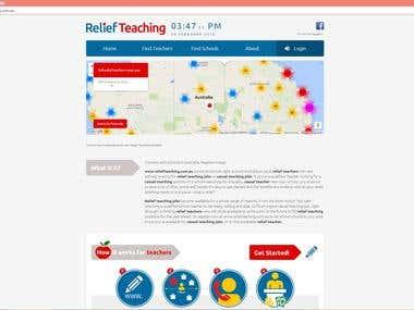 Relief teaching website