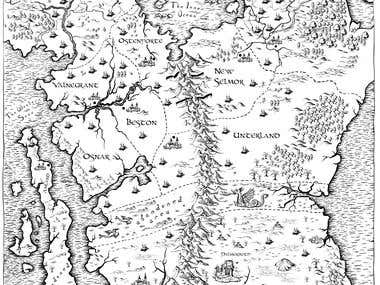 Fantasy map for a book