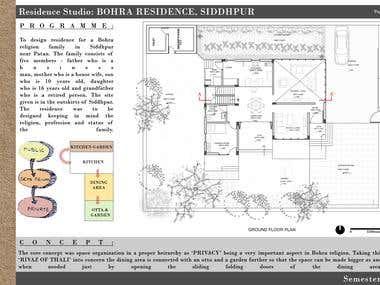 Residence Design for Bohra community Family