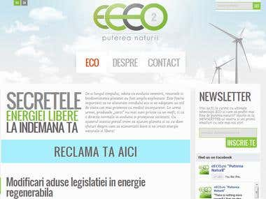 WP Design and Custom interface for ECO Blog