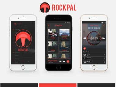 UI Design - RockPal Music App
