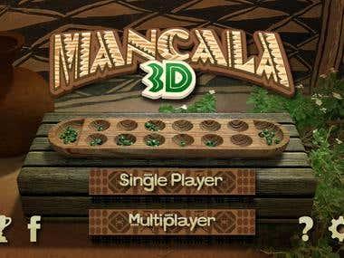 Mancala 3D - Mobile game desing
