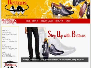 Bettans Web Site (www.bettansfootwear.com)