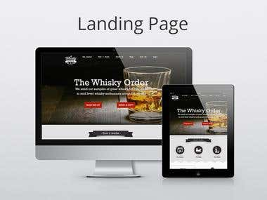 Landing Page design for Whiskey Order