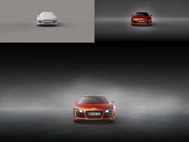 Automotive CGI rendering   retouching.