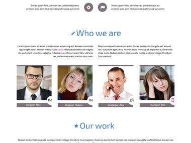 Design one page corporate website