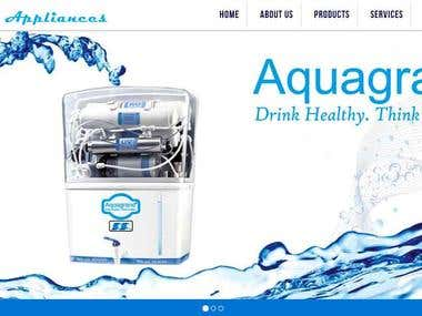 Water purify Website (Wordpress)